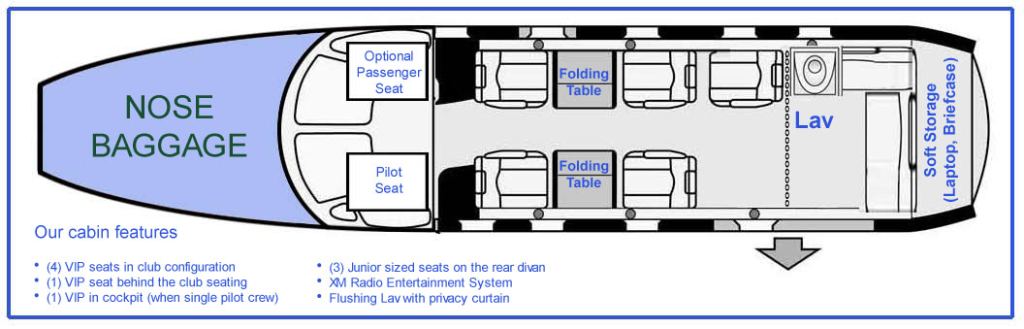 N112CZ seating layout